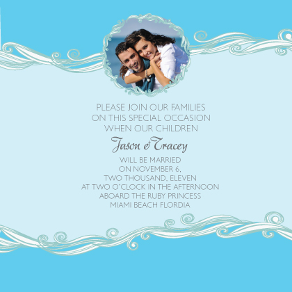 Wedding Invitation with photo - Set Sail Save the Date