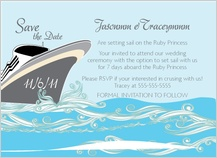 Save the Date Card - set sail save the date