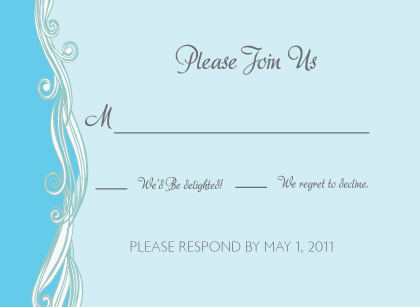 Response Card - Set Sail Save the Date