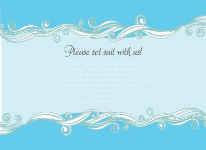 Reception Card - Set Sail Save the Date