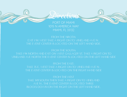 Direction - Set Sail Save the Date