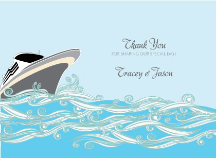 Wedding Thank You Card - Set Sail Save the Date