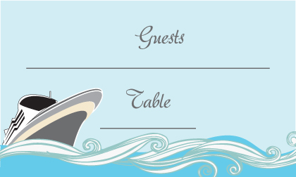 Place Card - Set Sail Save the Date