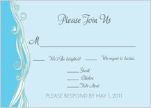 Response Card with menu options - set sail