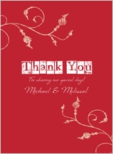 Wedding Thank You Card - in type