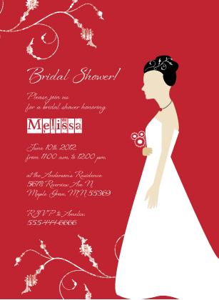 Wedding Shower Invitation - In Type