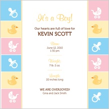 Birth Announcement - baby border