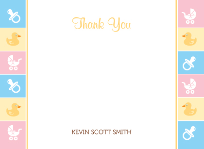 Baby Border - Baby Thank You Card | Look Love Send