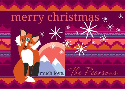 Christmas Cards - Holiday Fox