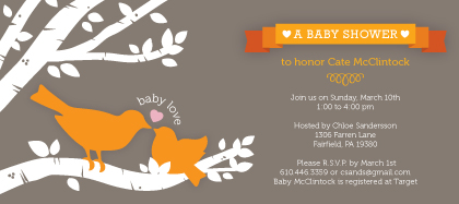 Baby Shower Invitation - Little Birdie