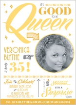 Birthday Party Invitation with photo - birthday queen