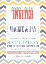 Wedding Invitation - chevron multi