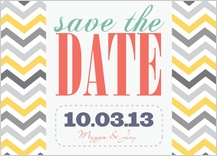 Save the Date Card - chevron multi