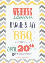 Wedding Shower Invitation - chevron multi
