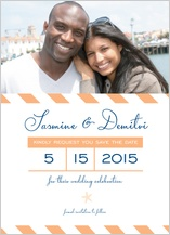 Save the Date Card with photo - modern starfish