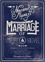 Wedding Invitation - vintage wedding style