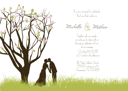 Wedding Invitation - Spring Apple Blossom