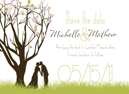 Save the Date Card - Spring Apple Blossom