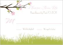 Response Card - spring apple blossom