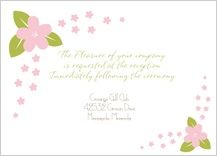 Reception Card - spring apple blossom