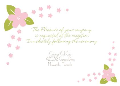 Reception Card - Spring Apple Blossom