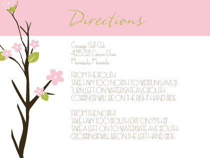 Direction - Spring Apple Blossom