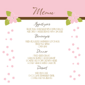 Menu - Spring Apple Blossom