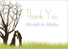Wedding Thank You Card - spring apple blossom