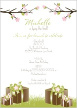 Wedding Shower Invitation - spring apple blossom