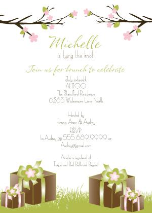 Wedding Shower Invitation - Spring Apple Blossom