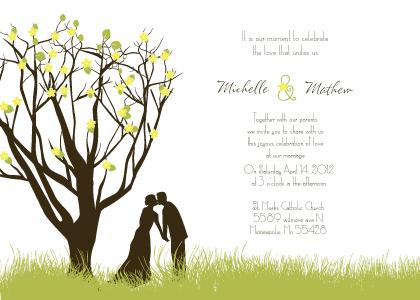 Wedding Invitation - Spring Apple Blossom