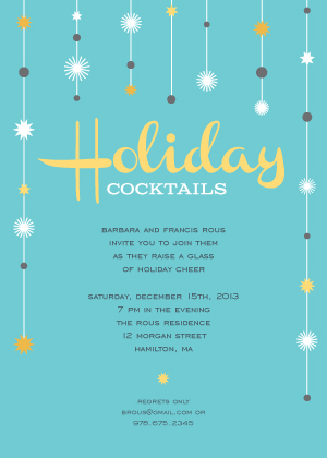 Holiday Party Invitations - Holiday Cocktails