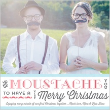 Christmas Cards - moustache season