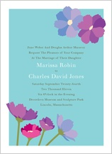 Wedding Invitation - wildflowers
