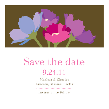 Save the Date Card - Wildflowers