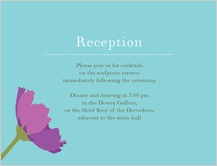 Reception Card - wildflowers