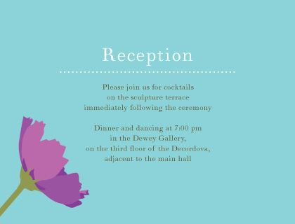 Reception Card - Wildflowers