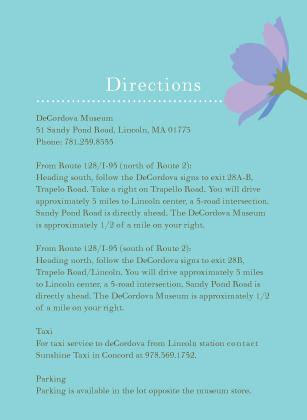 Direction - Wildflowers