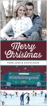 Christmas Cards - skating at fenway park