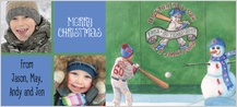 Christmas Cards - red sox slugger