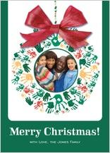 Christmas Cards - hand print wreath