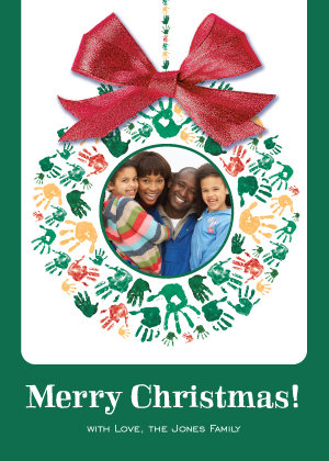 Christmas Cards - Hand Print Wreath
