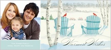 Holiday Cards - adirondack chairs in the snow