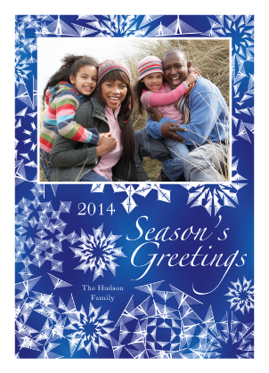 Holiday Cards - Brilliant Snowflakes