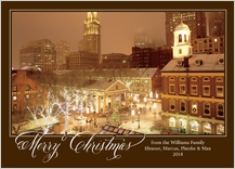 Christmas Cards - winters eve in boston