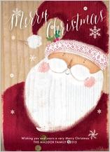 Christmas Cards - merry santa