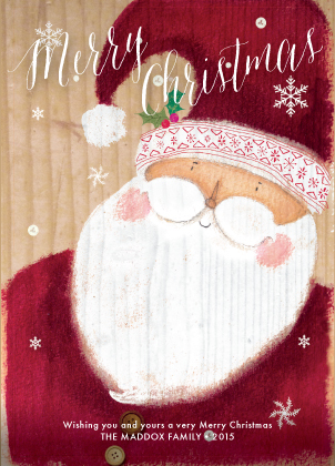 Christmas Cards - Merry Santa