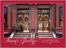 Holiday Cards - boston brownstone
