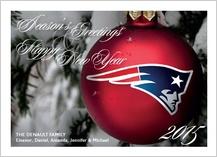 Christmas Cards - patriots ornament