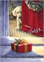 Christmas Cards - a puppy for christmas